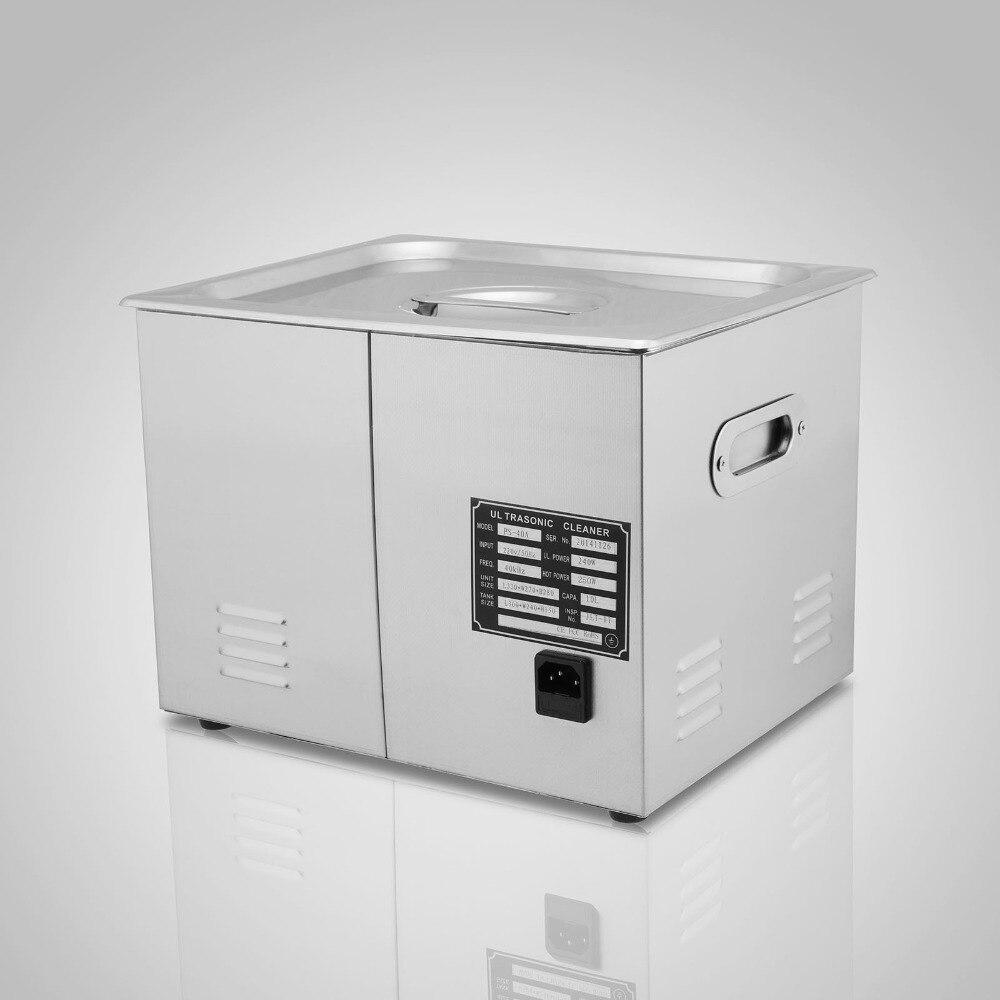 15л мощный ультразвуковой очиститель из нержавеющей стали 15 л 760 Вт Цифровой нагреватель таймер Ультразвуковой Очиститель Машина