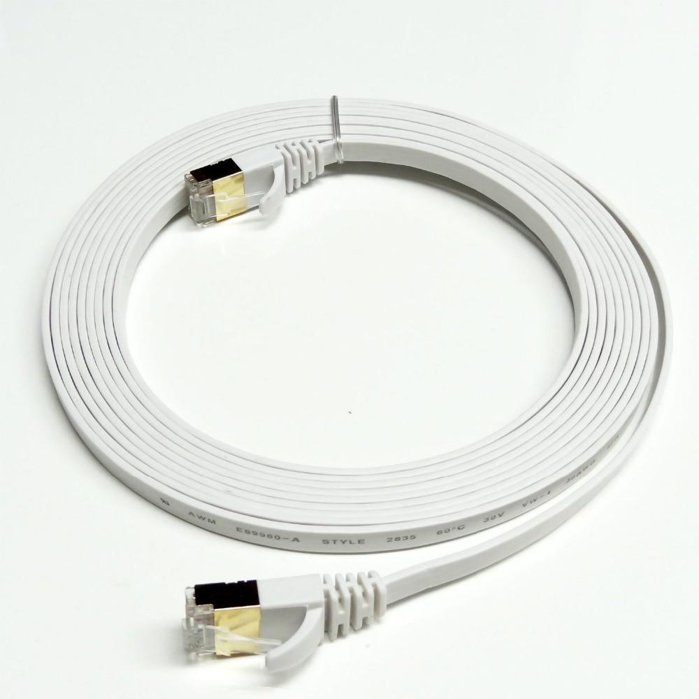 Cable de red LAN Ethernet CAT7 RJ45, conector chapado en oro de...