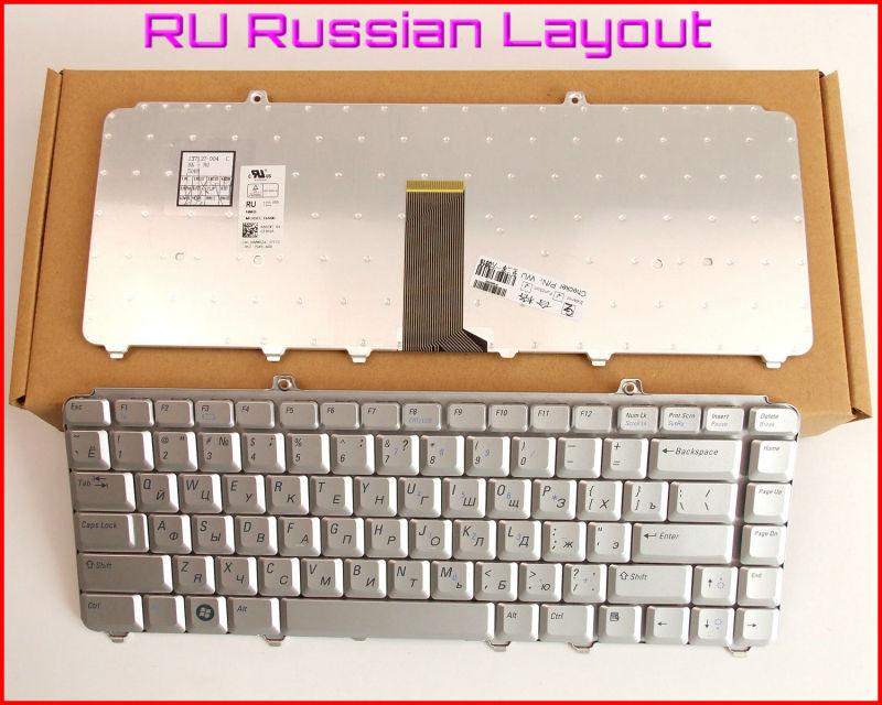 Novo Teclado RU Russo Versão Para Dell Inspiron 1318 1400 1500 1520 1521 1540 1545 1525 NK750 MK750 Laptop Prata