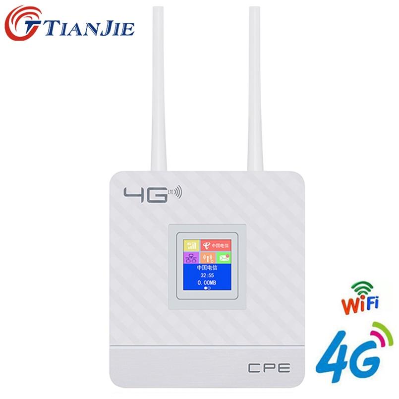 4G LTE CPE Wifi Router Broadband Unlock 4G 3G Mobile Hotspot WAN/LAN Port Dual External Antennas Gateway with Sim Card Slot