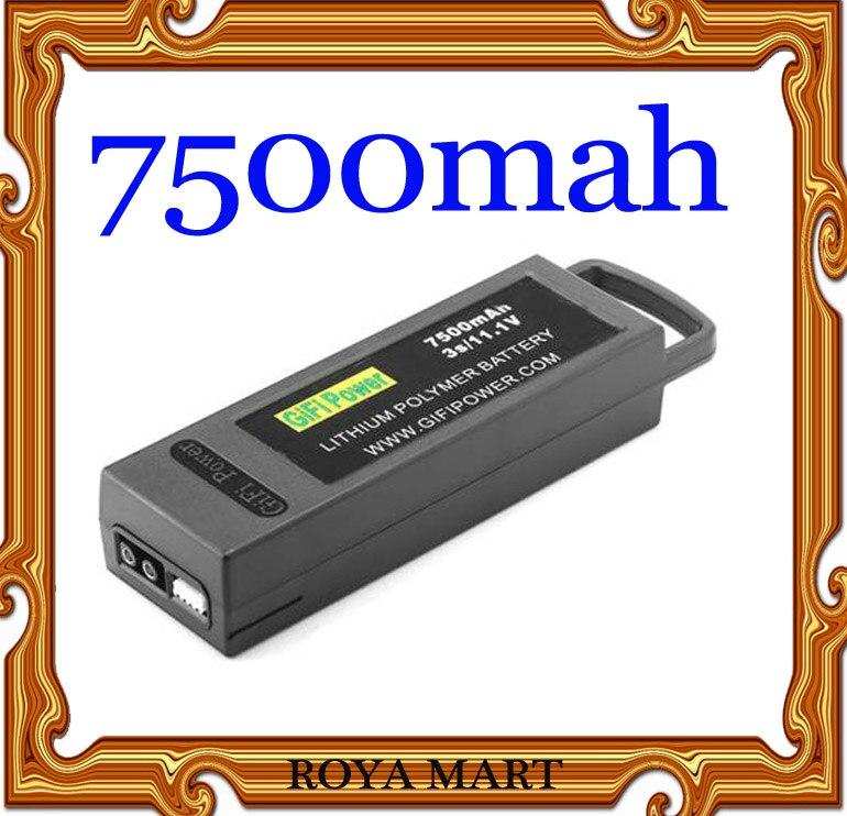 Lipo 7500 mAh/6400 mah 3 11,1 V LiPo batería para Yuneec Q500 Q500 + 4K PRO Quadcopter Drone