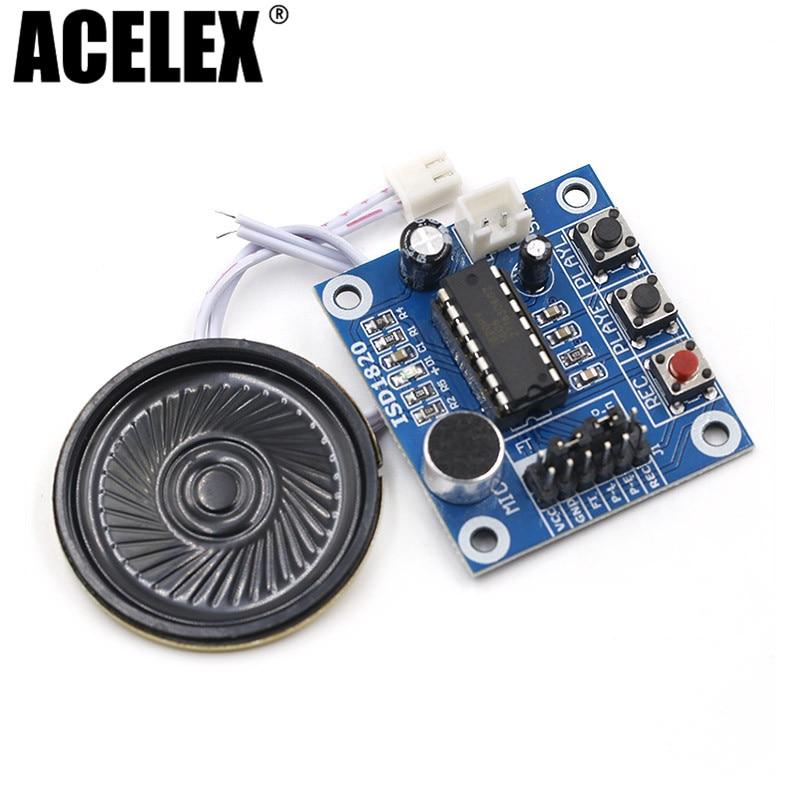 Módulo de voz del módulo de grabación ISD1820 de 10 piezas, placa de módulo de teléfono móvil con micrófonos + altavoz para arduino
