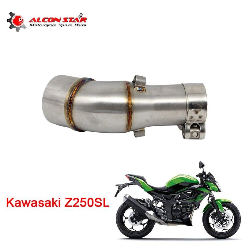 Alconstar-Z250SL silenciador de escape para motocicleta medio tubo con abrazadera para Kawasaki Z250SL NINJA250SL sin escape