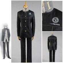 Costume Persona Cosplay Shin Megami Tensei Costume Persona 4 Yasogami Yu Narukami Costume Cosplay adulte hommes uniforme scolaire Costume