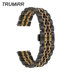 Quick Release Stainless Steel Watch Band for Diesel Armani CK DW Timex Butterfly Buckle Strap Wrist Belt Bracelet 18mm 20mm 22mm