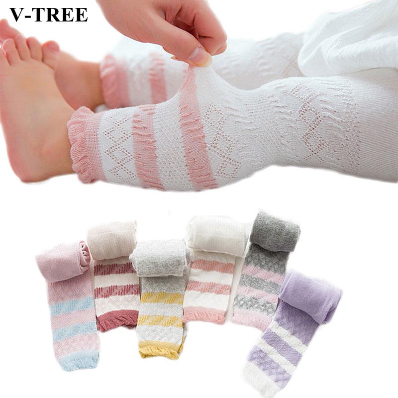 Leggings de verão para meninas algodão crianças calças de malha bebê respirável anti-mosquito legins roupas 1-5years