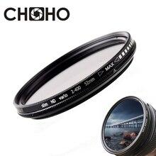 ND filtre densité neutre ND2 à ND400 Fader Vario Filtiros ND2-400 37mm 40.5mm 43mm 46mm 49mm pour Canon Nikon