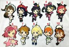 Liefde Live Kotori Anime sleutelhanger Nico Rin Umi Maki Chika Dia Riko Yoshi kc Kunikida Kanan Rubber strap/telefoon charm