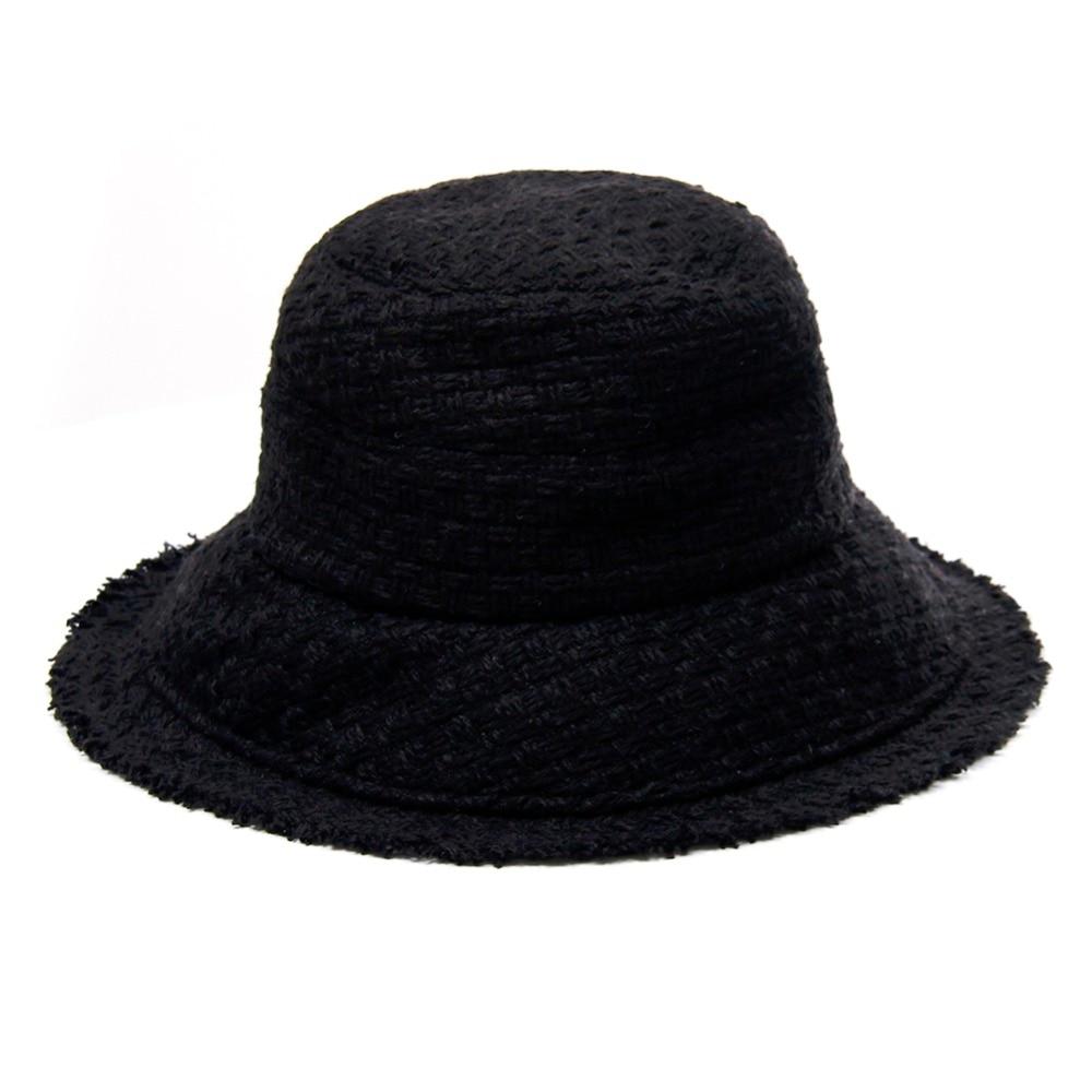 LNPBD Wide brimmed Weave Bucket Hat Warm Winter Women Packable Cap