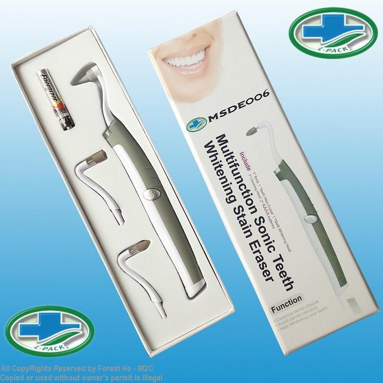 Teeth Whitening Sonic Vibration Light Dental Pick Stain Eraser dentist tools to go tartar and gums massager