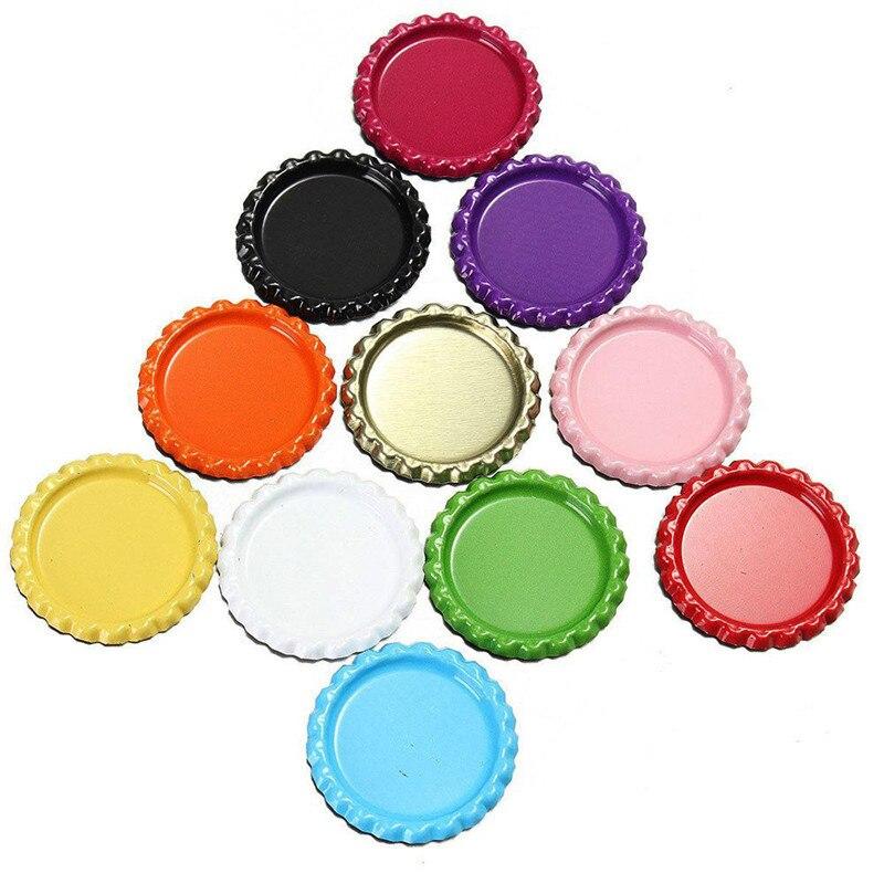 Tampas de Garrafa Achatadas 10 pçs/lote Perfeito Bottlecaps Planas Para Diy Hairbow Pingente Artesanato Acessórios Jewerly