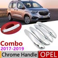 for Opel Vauxhall Combo Life 2018 2019 2020 Chrome Exterior Door Handle Cover Car Accessories Stickers Trim Set of 4Door