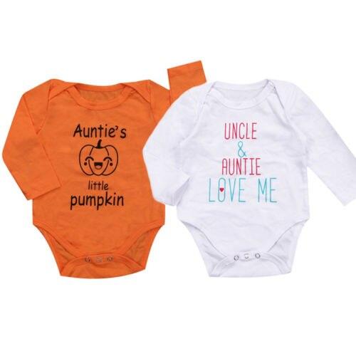 Hot Toddler Infant Kids Baby Boy Girl Bodysuit Soft Cotton Jumpsuit Christmas Hallowmas Family Clothes One-Pieces Outfit Sunsuit