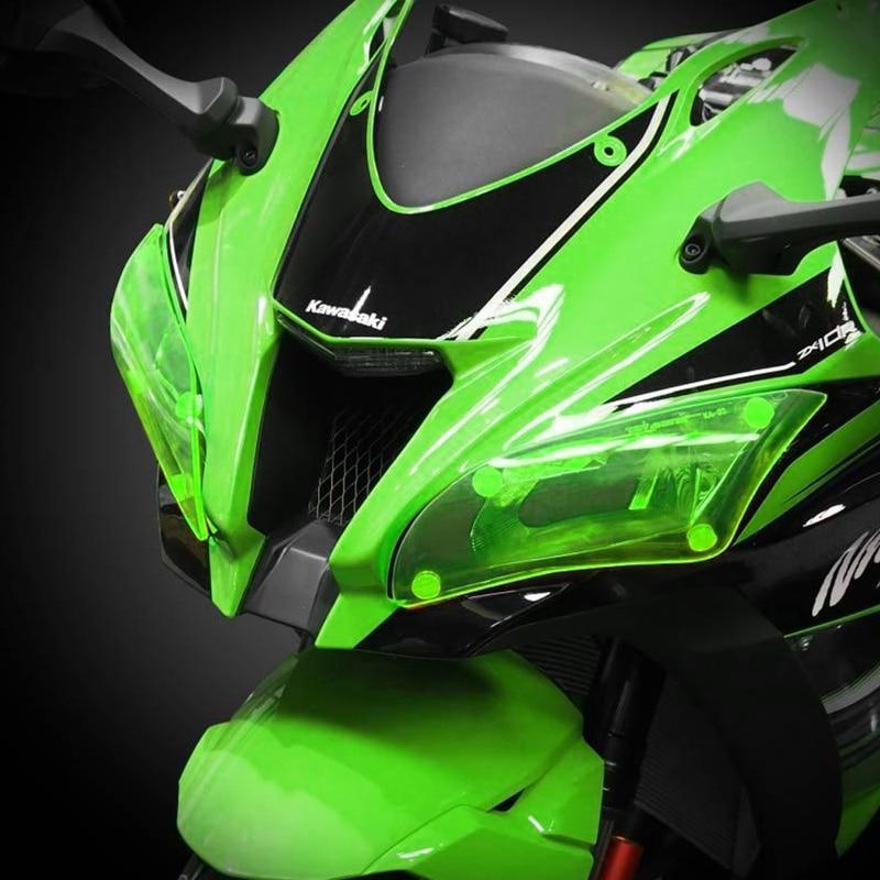 Motocicleta accesorios acrílico faro protector de pantalla cubierta para KAWASAKI ZX 10R ZX10 2016 R 2017