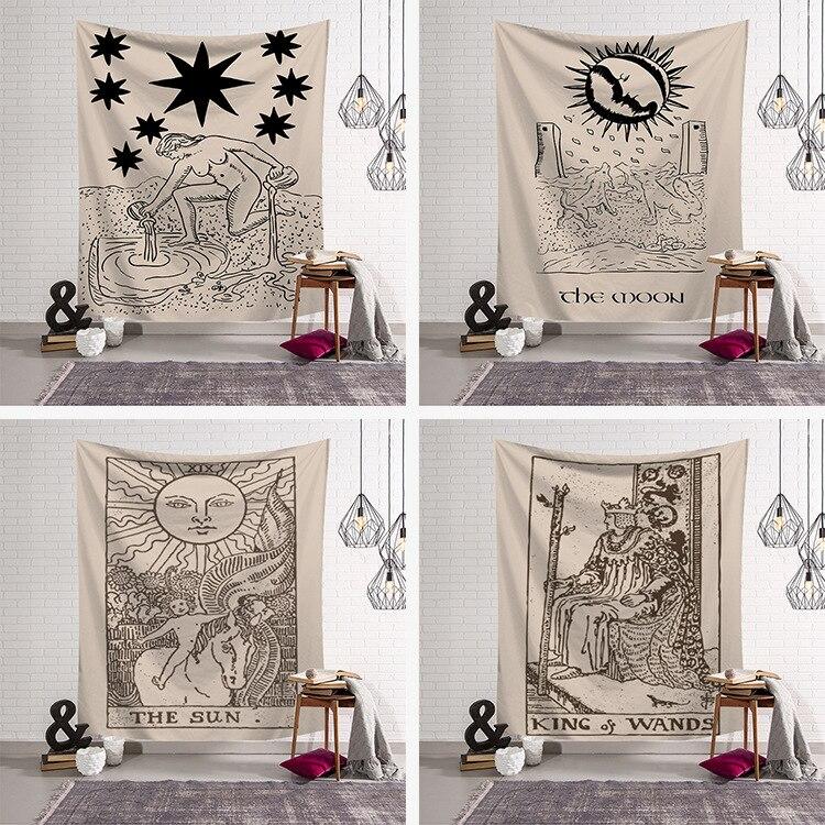 Vintage mitologia ilustração tapeçaria artístico parede pendurado tecido grego e egípcio lendas pintura pendurado cortina de parede