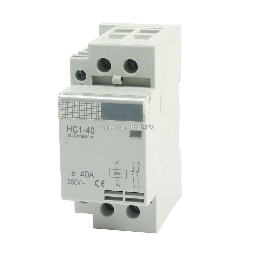 Contactor Polo ca de 2 fases doméstico CT1-40/2 P AC24V Ie 40A