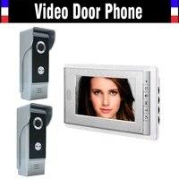 7 inch color monitor wired video door phone intercom system video doorbell intercom kit ir night vision 2 camera 1 monitor