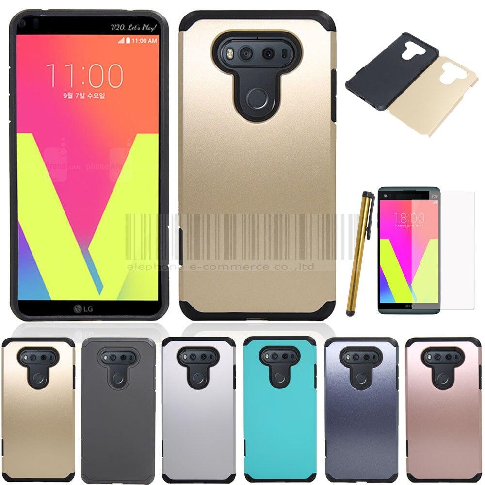 Para LG V20 caso de doble Capa Slim híbrida caucho protectora a prueba de golpes cubierta móvil armadura defensor del teléfono duro caso para LG v20