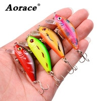 1pcs Minnow 50mm 4.2g Sinking Mini Wobbler Fishing Lure Artificial Hard Bait Trout Crankbait Trebles Hooks Fishing Tackle