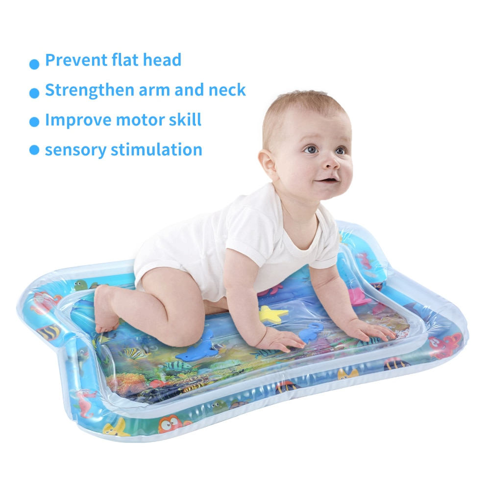 Baby water play mat Inflatable playmat thicken PVC baby gym  infant Tummy Time Playmat Toddler Fun Activity Play Center For Baby