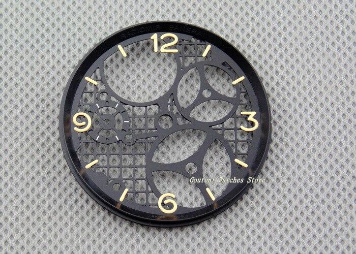 Pieza de reloj hueco de 37,5mm, esfera del reloj compatible con ETA 6497, gaviota st36, accesorio de reloj de movimiento