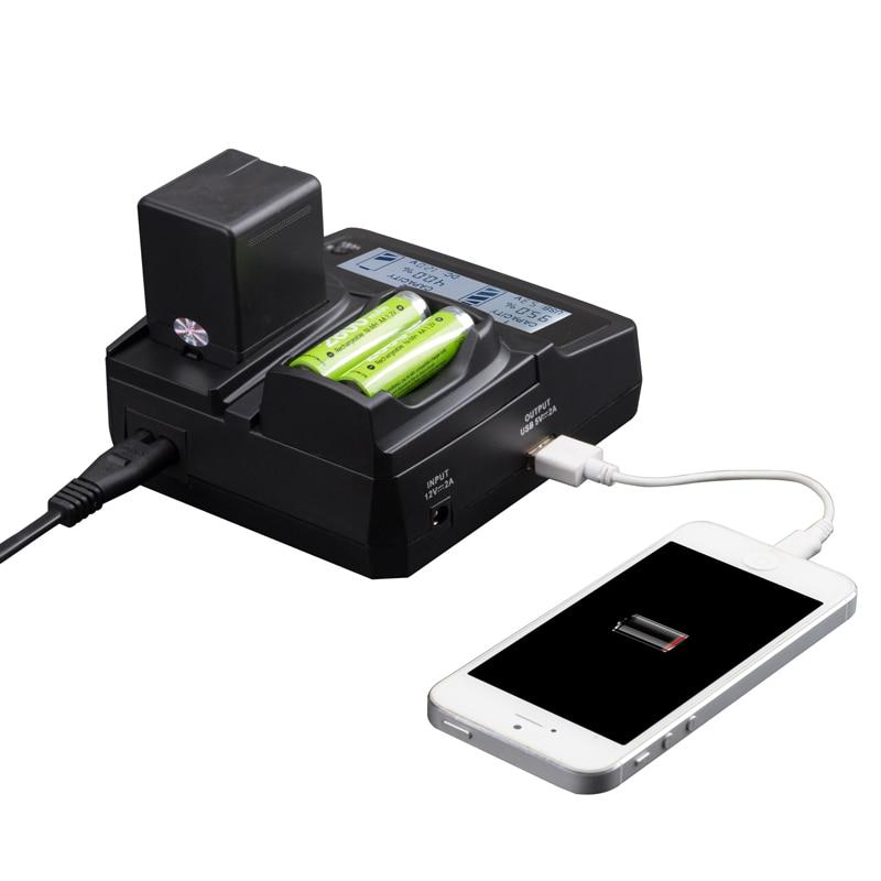 LVSUN Teléfono universal + AA + Cámara coche/AC KLIC-7003 KLIC7003 cargador adaptador de corriente para Kodak M380 M420 Z950 V1005 M381 V1003 V803