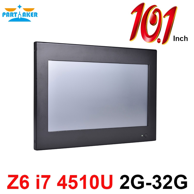 Partaker Z6 10.1 Inch Touch Screen PC Computer with Intel Core i7 4510u OEM All In One PC 2G RAM 32G SSD