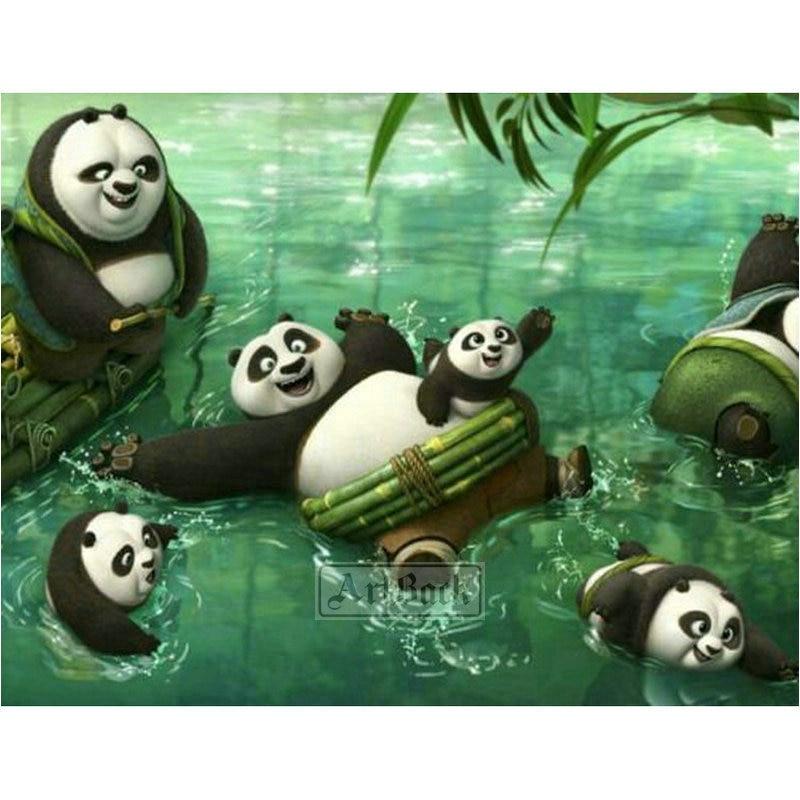 New arrival 5d diy diamond painting panda full square diamond cross stitch animal handmade crafts home decoration