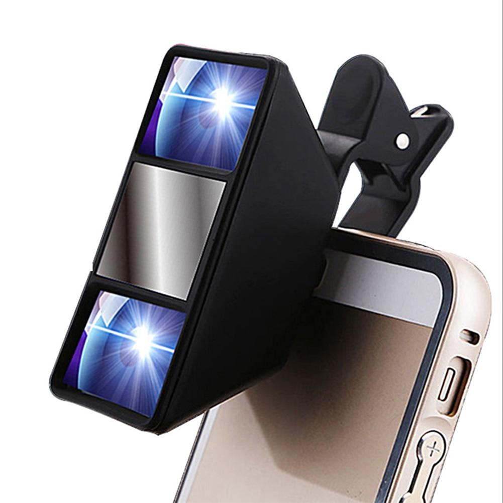 Clip externo Universal lentes 3D Mini fotografía estéreo visión lente de cámara para Samsung para HTC para Huawei lente de Smartphone