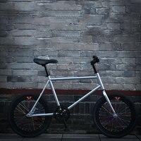 Road Bike Fixed Gear 20 Inch Adult Students Aluminum Alloy Rim Men and Women Mini Bicycle Light New Cool Tide
