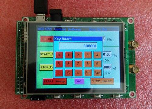 Tela táctil 137.5 mhz da tela colorida de tft do módulo adf4351 a 4400 mhz frequência de saída varredura stm32 35 m-fonte de sinal de 4.4g rf