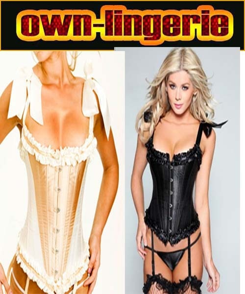 steel boned corser with boning plus size bustier corset w3008