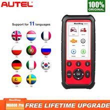 Autel MaxiDiag MD808 Pro OBD2 сканер автомобиля диагностический инструмент для масла Батарея сброса регистрации стояночный тормоз Pad переучиваться