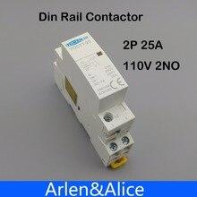 TOCT1 2P 25A 110V Bobina 50/60Hz su Guida Din per Uso Domestico Ac Modulare Contattore 2NO