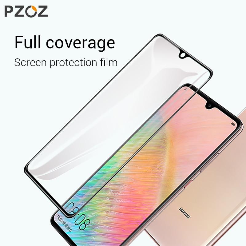 Закаленное стекло PZOZ для Huawei Mate 20 Lite Pro X, Защитная пленка для экрана Huawei Mate20 Pro X, защитное стекло 5D с полным покрытием