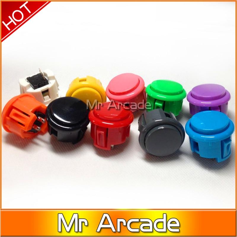 2 uds. Botón pulsador tipo SANWA Jamma Arcade botones de alta calidad duradera máquina de juego botón pulsador