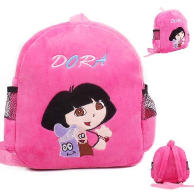 Skyleshine Dora Girl Mochila De felpa figuras de dibujos animados muñeca de peluche bolsa de hombro de juguete de peluche regalos de cumpleaños para niña S2166
