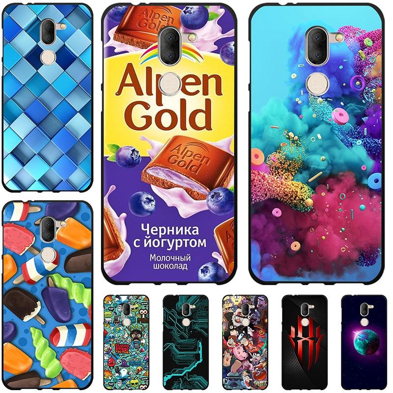 Fundas de teléfono para Alcatel 3X 5058Y fundas de silicona para Alcatel3X pintura suave TPU flores animales Shell Back Bags Shell