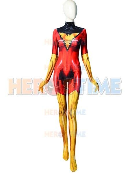 Traje estampado 3D x-men Dark Phoenix, traje de fiesta, traje de superhéroe Zentai para Halloween