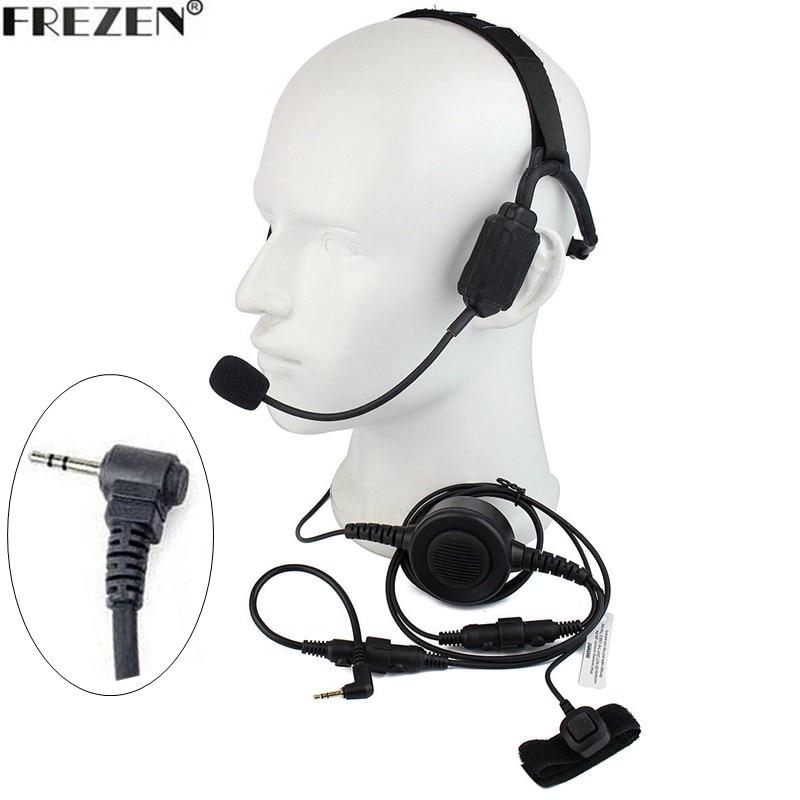 Walkie talkie Military Bone Conduction Tactical Headset boom mic For Motorola Two Way Radio T5428 T6200 T6210 TKLR T3