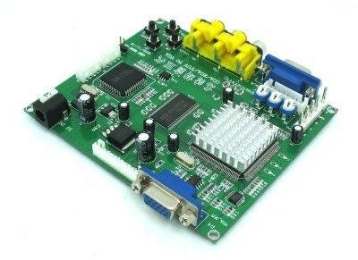 Arcade game RGB/CGA/EGA/YUV to VGA HD video converter board 1 VGA output