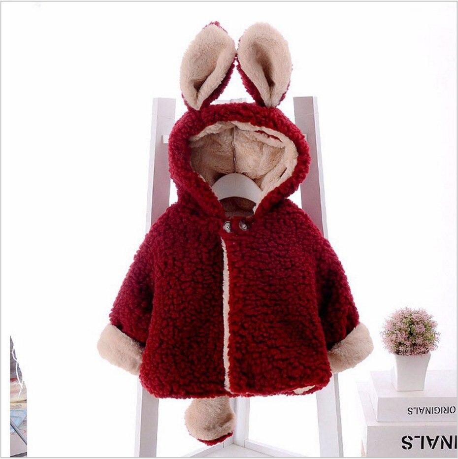 2019 Otoño Invierno piel attern abrigos para niños niñas niños bebé niño otoño orejas dibujos animados Abrigo con capucha chaqueta gruesa caliente