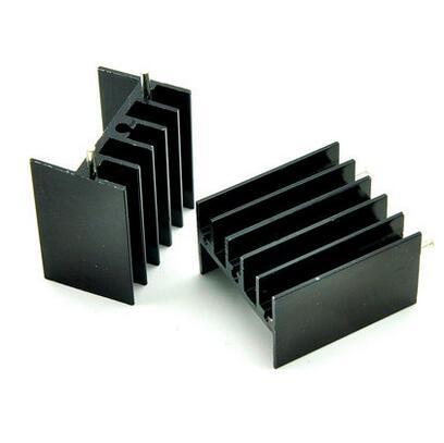 100 stücke 25*23*16MM ZU-220 Triode Kühlkörper TO220 Transistor Aluminium Kühler Kühlkörper mit 2Pin