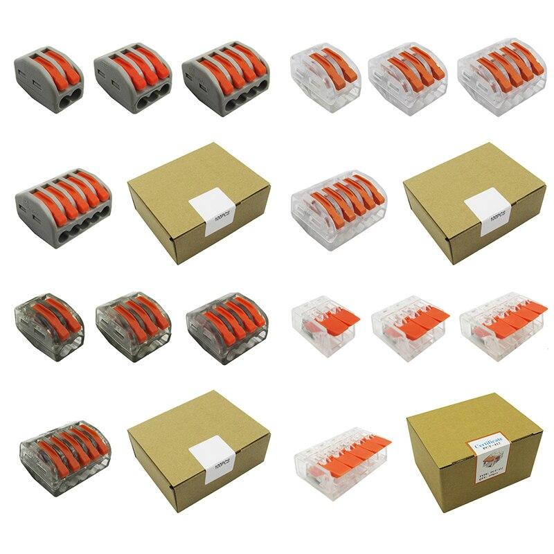 Универсальная компактная Клеммная колодка проводки (100 шт./кор.), мини-Коннектор с нажимным проводом, соединительные Проводные разъемы AWG222