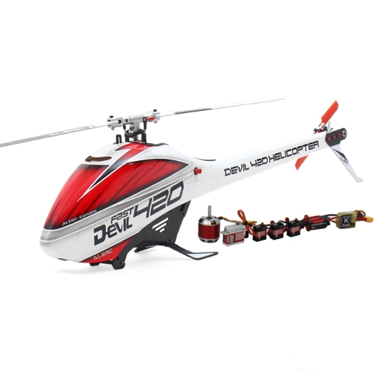 ALZRC Devil 420 rapide FBL RC hélicoptère Super Combo avec moteur sans brosse ESC numérique métal Servo pour extérieur télécommande jouets
