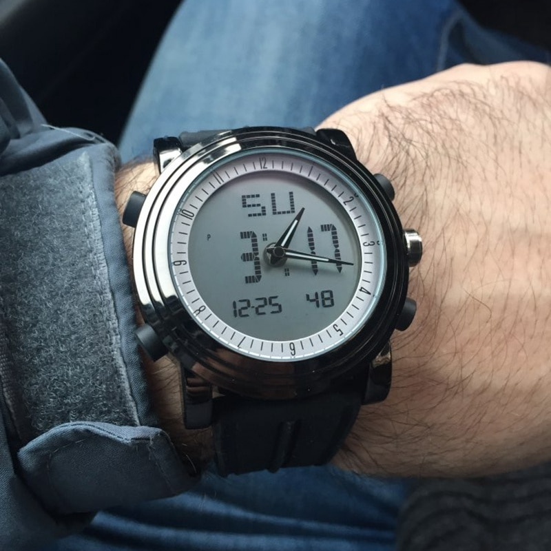 SINOBI Digital Sports Watch Men Chronograph Men's Wrist Watches Waterproof Black Watchband Male Military Geneva Quartz Clock