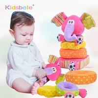 Игрушки для новорожденных детей Развивающие детские мягкие плюшевые игрушки мобильные погремушки игрушки Детские Слоники укладки детские...
