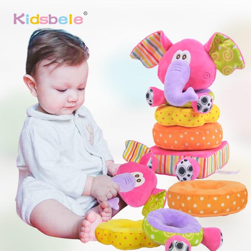 Игрушки для новорожденных детей Развивающие детские мягкие плюшевые игрушки мобильные погремушки игрушки Детские Слоники укладки детские игрушки колокольчик