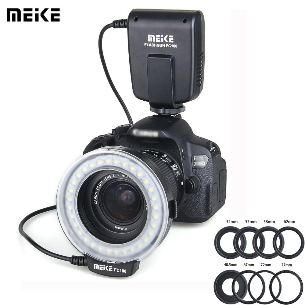 Meike FC 100 Speedlite Macro anillo de luz LED Flash estudio foto...
