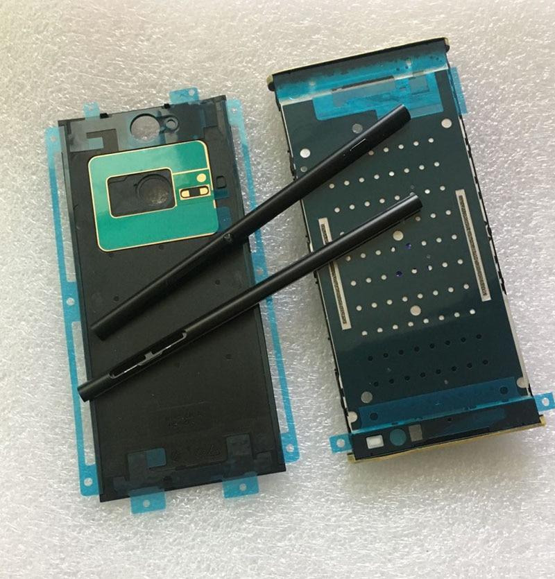 New Rear Back Battery Cover +Front LCD Plate Mid Middle Frame Bezel Housing Cover + Rail Side Stripe Frame for Sony XA2 Ultra
